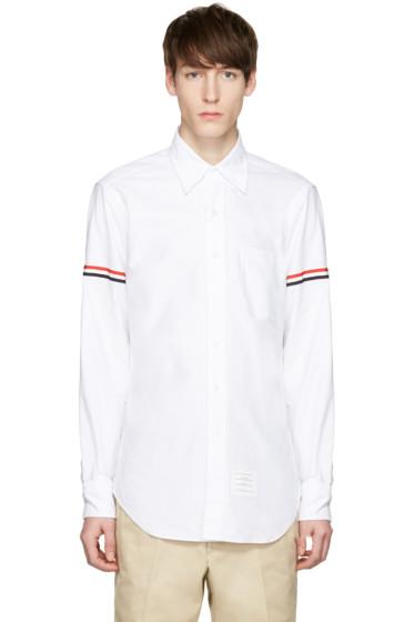 Thom Browne - White Oxford Grosgrain Classic Shirt