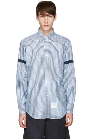 Thom Browne - Blue Check Grosgrain Classic Shirt