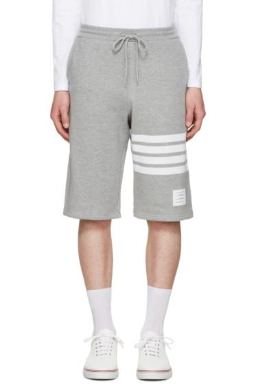 Thom Browne - Grey Classic Lounge Shorts