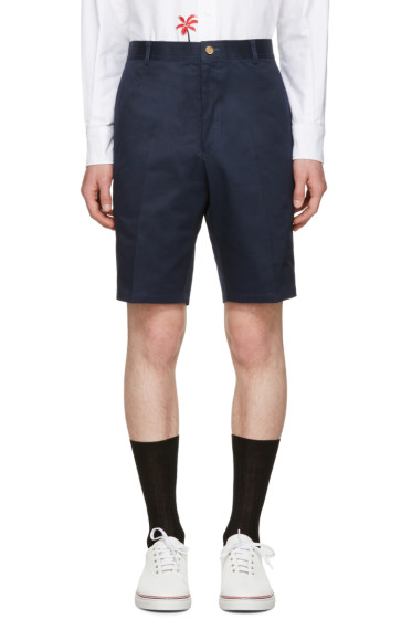 Thom Browne - Navy Unconstructed Chino Shorts