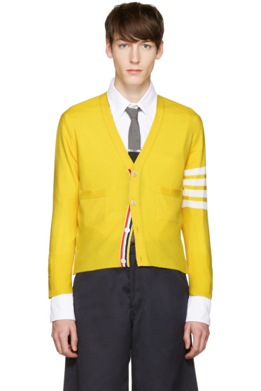 Thom Browne - Red Classic Short V-Neck Cardigan