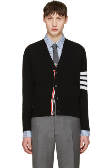 Thom Browne - Black Classic Short V-Neck Cardigan
