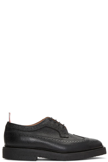 Thom Browne - Black Classic Longwing Crepe Sole Brogues