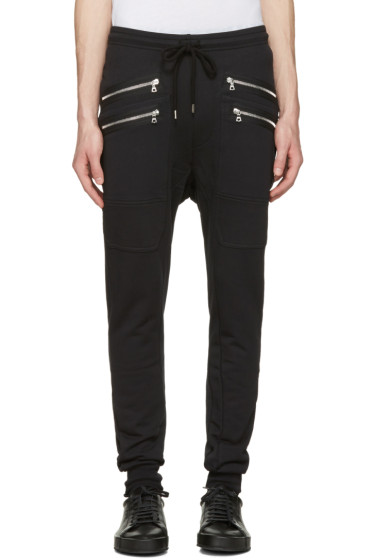 Markus Lupfer - Black Double Zip Lounge Pants