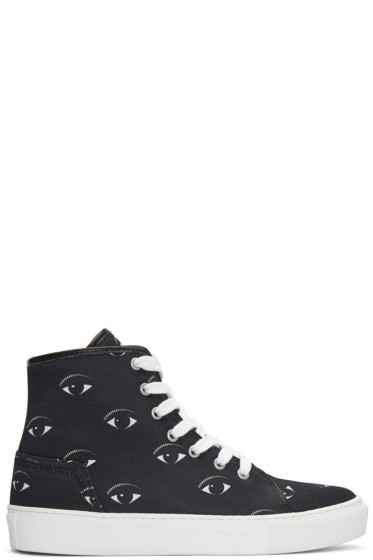 Kenzo - Black Eyes High-Top Sneakers
