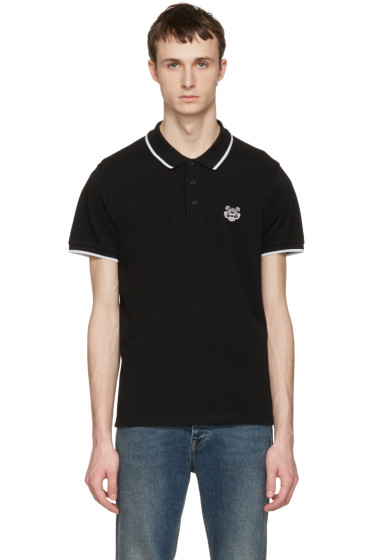 Kenzo - Black Tiger Patch Polo