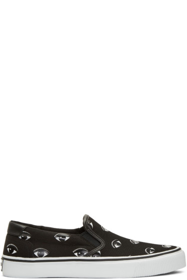 Kenzo - Black Eye Slip-On Sneakers