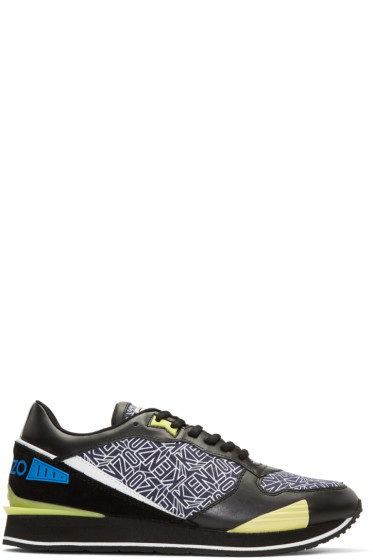 Kenzo - Blue Flying Logo Running Sneakers