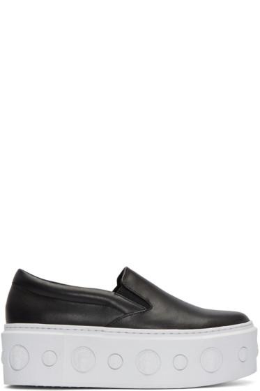 Versus - Black Lion Slip-On Platform Sneakers