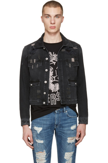 Versus - Black Denim Staples Jacket