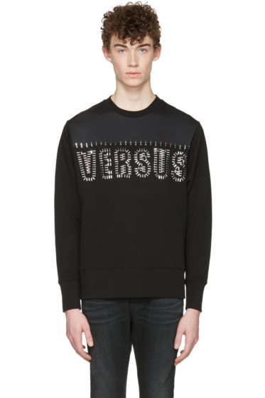 Versus - Black Staple Logo Pullover