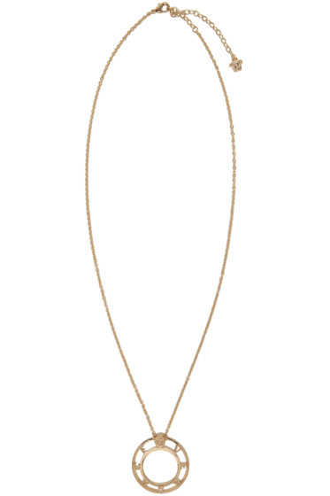 Versace - Gold Large Logo Pendant Necklace