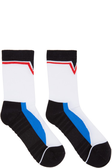 Versace - White Colorblock Socks