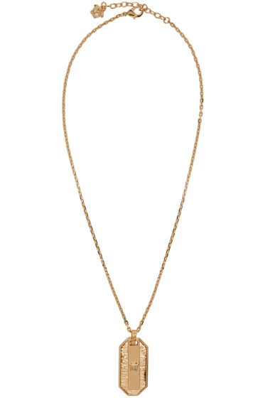 Versace - Gold Small Medusa Dog Tag Necklace