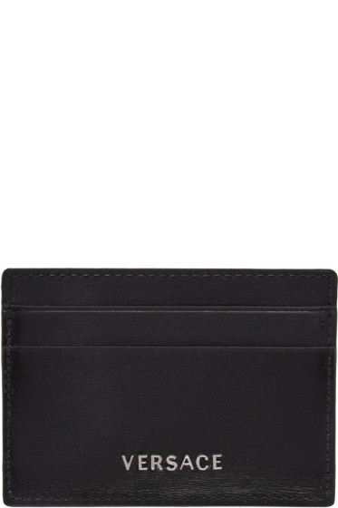Versace - Black Logo Card Holder