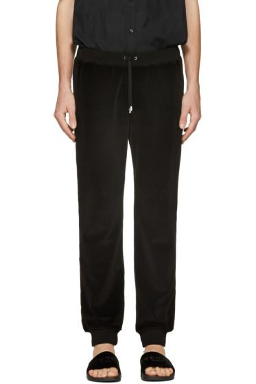 Versace - Black Velour Lounge Pants