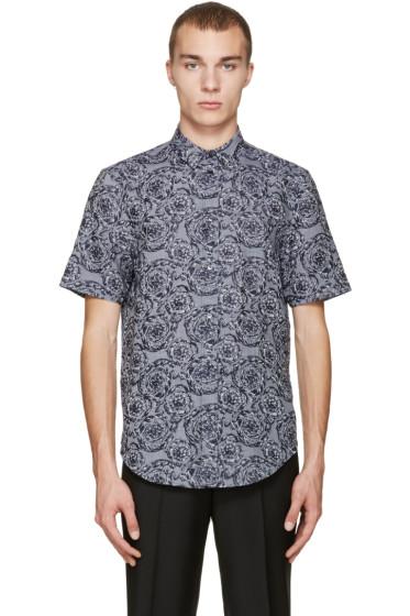 Versace - Grey & Navy Baroque Shirt