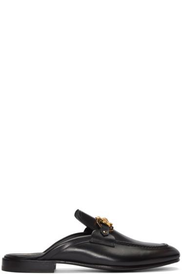 Versace - Black Slip-On Medusa Loafers