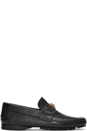 Versace - Black Medusa Loafers