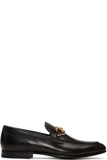 Versace - Black Medusa Loafers