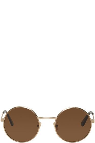 Saint Laurent - Gold SL 136 Zero Sunglasses