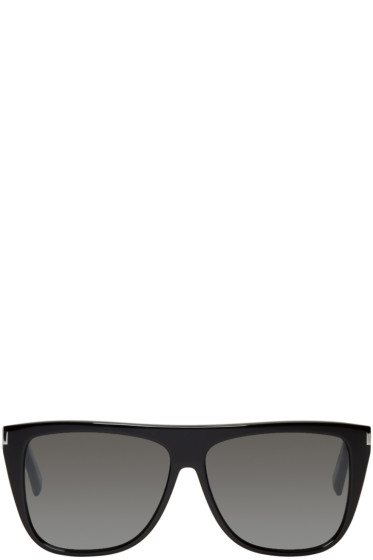 Saint Laurent - Black SL 1 Bold Sunglasses
