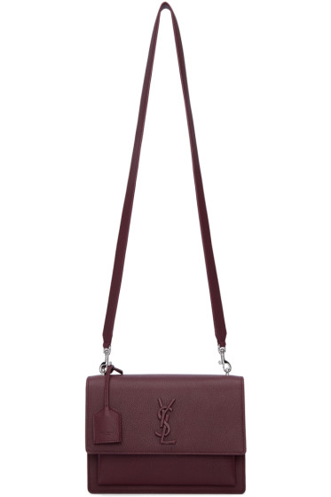 Saint Laurent - Burgundy Medium Monogram Sunset Satchel