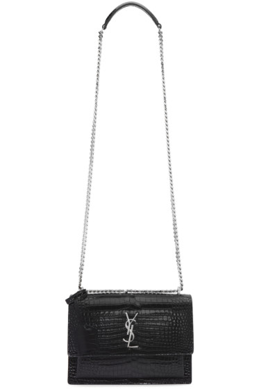 Saint Laurent - Black Medium Monogram Sunset Satchel