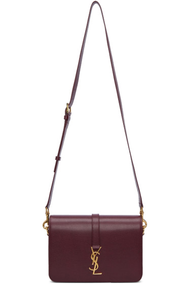 Saint Laurent - Burgundy Medium Monogram Université Bag