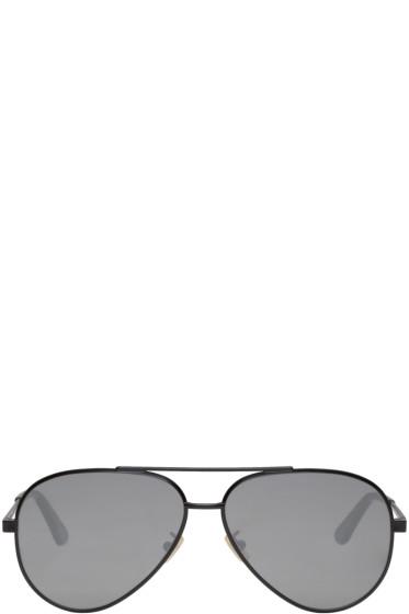 Saint Laurent - Black Classic 11 Zero Aviator Sunglasses