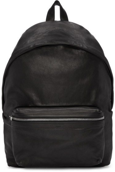 Saint Laurent - Black Washed Leather City Backpack