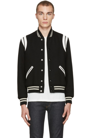 Saint Laurent - Black Teddy Bomber Jacket