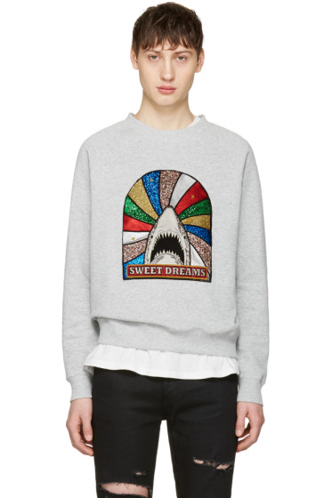 Saint Laurent - Grey 'Sweet Dreams' Shark Pullover