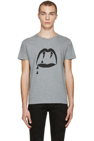 Saint Laurent - Grey Blood Luster T-Shirt
