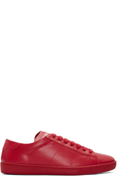 Saint Laurent - Red Court Classic SL/01 Sneakers