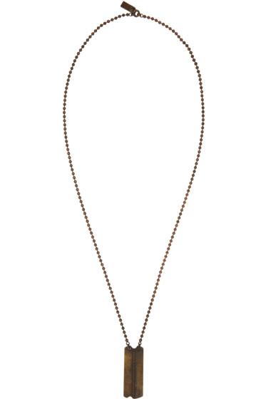 Julius - Gold Dog Tag Necklace