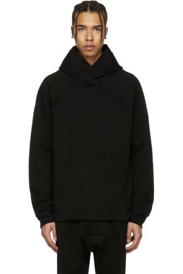 Julius - Black Panelled Hoodie