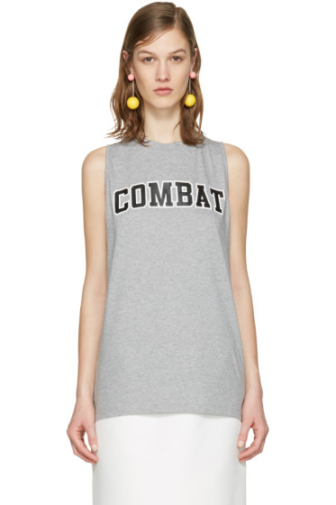 MSGM - Grey 'Combat' Tank Top