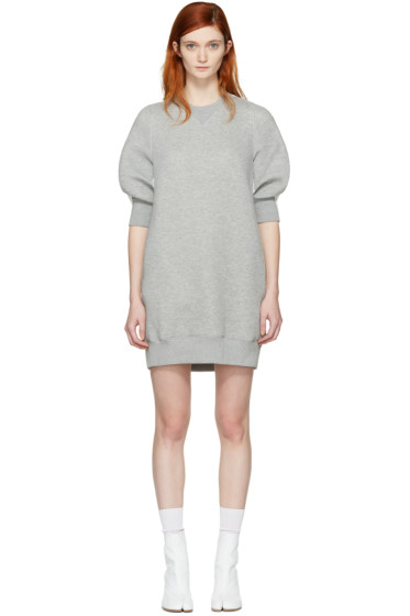 Sacai - Grey Sweatshirt Dress