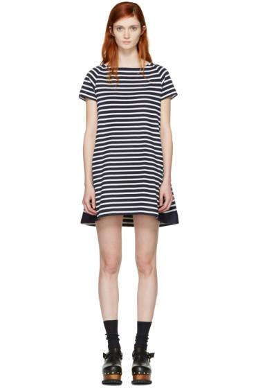 Sacai - Navy Striped Dixie Dress