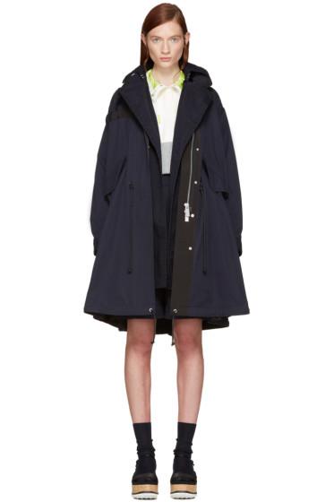 Sacai - Navy Twill Coat