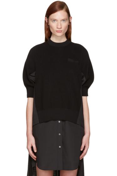 Sacai - Black Knit Pullover