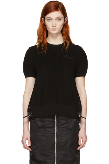 Sacai - Black Dot Lace Pullover