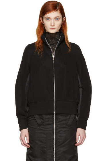 Sacai - Black Zip-Up Sweater