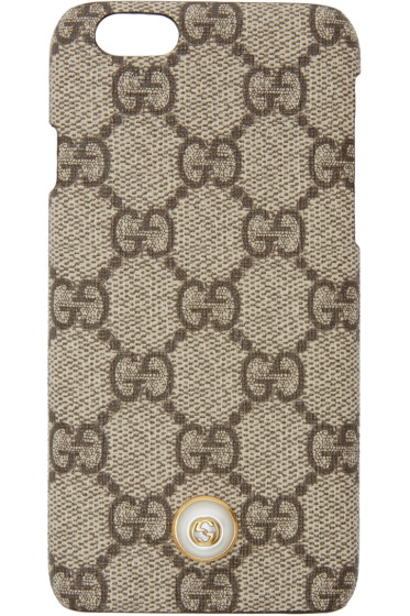 Gucci - Beige 'GG' Supreme iPhone 6 Case
