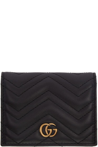 Gucci - Black Small GG Marmont Wallet