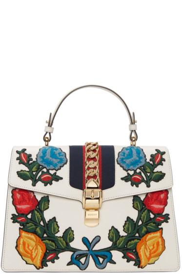 Gucci - White Medium Sylvie Bag