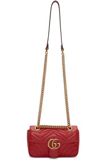 Gucci - Red Mini GG Marmont 2.0 Bag
