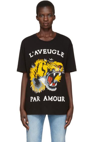 Gucci - Black Roaring Tiger T-Shirt