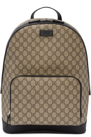 Gucci - Beige GG Supreme Backpack